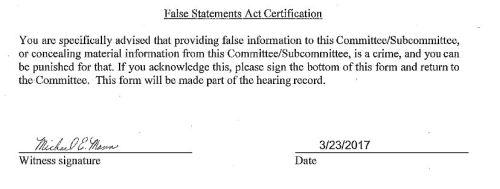 False statements